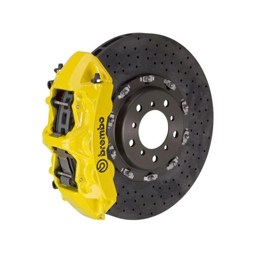 Brembo GT CCM-R Brake System Front 6 Piston, Drilled - suits Mercedes-Benz 08-14 C63 AMG (Excluding Black Series) (W204, C204)