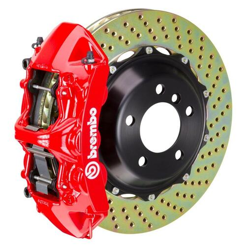 Brembo GT Brake System Front 6 Piston, Drilled - suits Honda 17+ Civic Type-R (FK8)