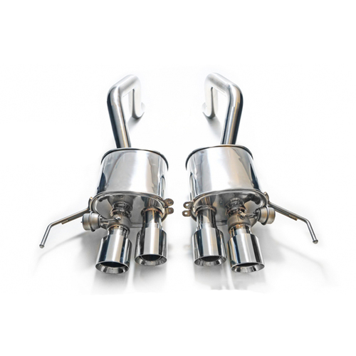 ARMYTRIX Stainless Steel Valvetronic Catback Exhaust System Chrome Silver Tips Chevrolet Corvette C7 14-18